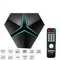 caja de tv android ethernet al por mayor-Iron + Android 7.1 TV Box 2.4G / 5.8G Dual Wifi Amlogic S912 Octa Core Smart Mini PC 3GB 32GB Decodificador 1000M Ethernet Bluetooth Media Player