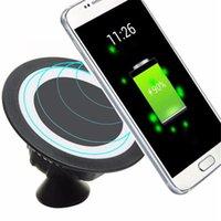 iphone auto mount usb großhandel-Heißer verkauf Qi Dock Rotierender Berg Autohalterung Ladekissen Drahtloses Ladegerät Für iPhone X / 8 Plus für Samsung Note 8 S8 oneplus