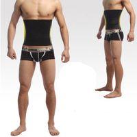 quemador de celulitis grasa al por mayor-Venta al por mayor-Body Shaper Men Adelgaza la cintura Corta el cinturón Corsé Cerveza Envoltura grasa Celulitis Quemador Control de la barriga Faja de estómago