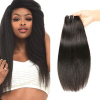 Wholesale yaki hair prices - Grade 8A Peruvian Kinky Straight Human hair Extensions Cheap Wholesale Price Unprocessed Peruvian Virgin Hair Bundles Weaves Yaki Straight