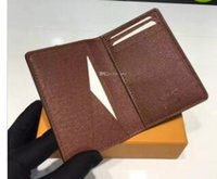Wholesale blue bifold wallet - Excellent Quality Pocket Organiser NM damier graphite M60502 mens Real leather wallets card holder N63145 N63144 purse id wallet bifold bags