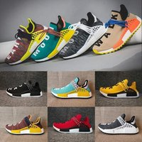 Wholesale cycling promotion - Sales Promotion NMD HUMAN RACE Pharrell Williams Hu NMD_TR X NMD Runner Shoes man & women New Arrivals Summer Autumn Sneakers Size 36-47