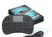android mäuse großhandel-Mini Drahtlose Tastatur Rii i8 2,4 GHz Air Maus Tastatur Fernbedienung Touchpad Für Android Box TV 3D Spiel Tablet Pc