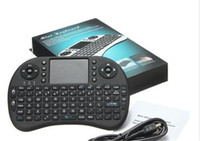 controles remotos inalámbricos al por mayor-Mini Teclado Inalámbrico Rii i8 2.4 GHz Teclado de Ratón de Aire Control Remoto Touchpad Para Android Box TV Juego 3D Tablet PC