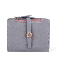 Wholesale Small Leather Pocket Change Holder - 2017 Latest Lovely Leather Small Women Wallet Fashion Girls Change Clasp Purse Money Coin Card Holders Kids Wallets Carteras