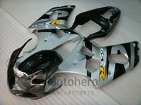 Wholesale parts fit for sale - Injection silver black fairings FOR SUZUKI K1 K2 GSXR1000 YEARS GSXR1000 fit Fairing kits high quality parts