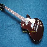 alevli akçaağaç kırmızısı toptan satış-1959 R9 LP standart özel elektro gitar. akçaağaç üst guitarra, tige alev top gitaar.wine kırmızı renk