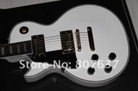 guitarra elétrica branca esquerda venda por atacado-Custom shop assinatura branco mão esquerda made in USA perfeito guitarra elétrica Frete grátis