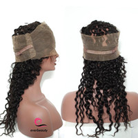 "Wholesale Beauty Queen Peruvian Hair - Queen Beauty Pre Plucked 360 Lace Frontal Closure Deep Wave 22.5""X4""X2"" Brazilian Non-remy Hair"
