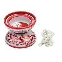 cuerdas de yoyo al por mayor-3Color aleatorio profesional Metal Magic YoYo Ball Bearing String Toy regalo para niños adultos