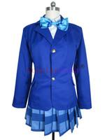 Wholesale love live cosplay online - Love Live School Idol Project Cosplay Maki Nishikino Hanayo Koizumi School Uniform Costume H008