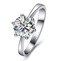 romântico para homens venda por atacado-Anéis De Casamento Romântico Jóias Cubic Zirconia Anel para Mulheres Homens 925 Sterling Silver Anéis Acessórios