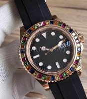 красивые стальные наручные часы оптовых-красивые 2018 резиновые розовое золото люксовый бренд часы 40 мм механизм с автоподзаводом механические часы из нержавеющей стали наручные часы