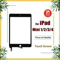 ipad mini cam dokunmatik sayısallaştırıcı toptan satış-İPad mini 1 2 3 4 için dokunmatik Ekran Digitizer Ekran Cam Değiştirme Apple iPad Mini 1 2 3 4 Siyah Beyaz