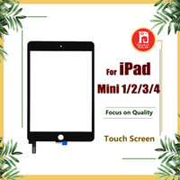 ipad mini digitalizador reemplazo negro al por mayor-Pantalla táctil para iPad mini 1 2 3 4 Reemplazo de cristal de la pantalla del digitizador para Apple iPad Mini 1 2 3 4 Negro Blanco