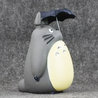 Wholesale toys hayao miyazaki resale online - Eco Friendly cm Hayao Miyazaki My Neighbor Totoro With Umbrella Pvc Action Figure Collectible Model Toy Piggy Bank