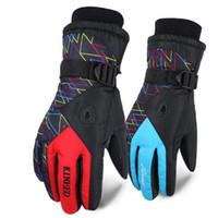 gants imperméables à l'homme achat en gros de-Runature Hommes Gants Coupe-Vent Étanche Chaud Gants De Ski En Hiver Pour Sports De Plein Air Snowboard Moto Mâle