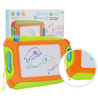 Wholesale toddler learning toys online - Magnetic Drawing Board Toy and Sketch Erasable Pad Writing Kids Toddler Boy Girl Painting Learning Birthday Gift GGA1170