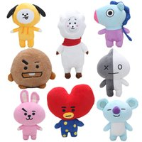 Wholesale kpop anime - 17-40cm Kpop BTS BT21 Plush Dolls Bangtan Boys Van JUNG KOOK Jimin BT21 Plush Cushion stuffed Toy Dolls TATA COOKY CHIMMY SHOOKY