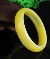 brazalete amarillo al por mayor-Opal amarillo brazalete brazalete mujer moda vintage regalo de la joyería