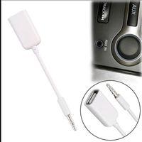 mp3 usb jack großhandel-3,5-mm-Stecker AUX Audio Plug Jack auf USB 2.0 Buchse Konverter Kabel Auto MP3 2018