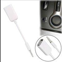 ingrosso spina femmina-3.5mm Maschio AUX Audio Plug Jack A USB 2.0 Femmina Cavo convertitore Cavo auto MP3 2018 stock