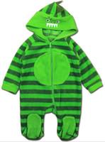 winter baby anzug designs großhandel-Mit Kapuze Dinosaurier-Spielanzug-Winter-Art-Baby-Karikatur-Sprungs-Klage-lange Hülsen 6 Entwurfs-Wahl große Kunstfertigkeits-Mischungs-Größe