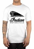 indische motorradgeschenke großhandel-Indian Motorrad Classic Logo T-Shirt Iconic amerikanische große Geschenk-Idee