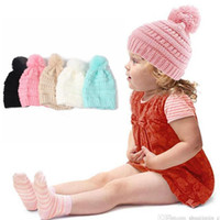 Wholesale oversized beanie cap for sale - Group buy Kids Trendy Beanie Knitted Hats Chunky Skull Caps Winter Cable Knit Slouchy Crochet Hats Fashion Outdoor Warm Oversized Hats OOA2452