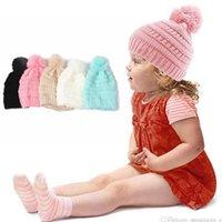 übergroße hüte großhandel-Kids Trendy Beanie Strickmützen Chunky Skull Caps Winter Zopfmuster Slouchy Crochet Hats Mode im Freien warme übergroße Hüte OOA2452