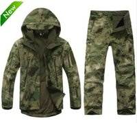 équipement de vêtements de plein air achat en gros de-TAD Tactical Gear Soft Shell Camouflage Extérieur Jacket Set Hommes Armée Casual Chasseur Imperméable Chaud Vêtements Chaud Randonnée Veste