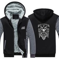 erkekler için usa giyim toptan satış-Kış Harley Logosu davidson Erkekler kadınlar Sıcak Filo Hoodies sonbahar giysileri tişörtü Fermuar ceket polar hoodie ABD AB artı boyutu