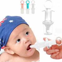 Wholesale kids dispenser - 5ml Baby Squeeze Medicine Dropper Dispenser Silicone Kid Given Feed Medication Utensil Infants Syringe Device Nipple needle Feeding LJJA565