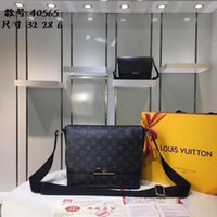 Wholesale leather man briefcase classic - Top Quality brand men briefcase luxury business package top quality shoulder bag classic messenger package fashion shoulder bag M40539