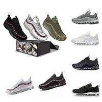 Wholesale M Cushion - 2018 Mens Sneakers Shoes classic 97 Men Running Shoes Black White Trainer Cushion Breathable Man Walking Sports Shoes size 36-46eur