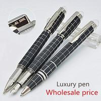 ingrosso prezzi elevati-Prezzo promozionale - Star-walker nero griglia di alta qualità Penna roller penna a sfera penne stilografiche penne ufficio scuola di cancelleria regalo penne AAA