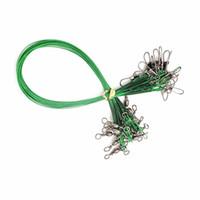 isırık yemle toptan satış-20 Adet / grup Paslanmaz Çelik Tel Balıkçılık Cazibesi İz Tel Lideri Döner Takımları Spinner Anti-bite Çelik Olta Olta Takımı