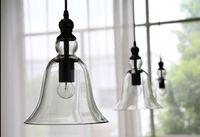 cloches en verre antique achat en gros de-Antique Vintage Style abat-jour en verre Plafonnier Suspension Luminaire Américain moderne Loft cristal pendentif cloche lumière rétro lustre lumières