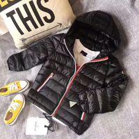 jaqueta de inverno outwear bebê venda por atacado-Marca de alta qualidade crianças outwear inverno de varejo de inverno para baixo jaquetas do bebê para baixo casaco meninos outerwear espessamento varejo 4-10 t
