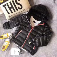 markalı bebek kat toptan satış-Yüksek Kalite marka çocuk kış giyim Perakende çocuk Kış Aşağı Ceketler Bebek Aşağı Ceket Erkek Giyim Kalınlaşma Perakende 4-10 T