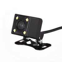 cámara ancha impermeable de visión nocturna al por mayor-170 grados universal impermeable lente ancha 4 LED cámara de visión trasera Asistencia para estacionamiento de vehículos Visión nocturna, Línea de estacionamiento