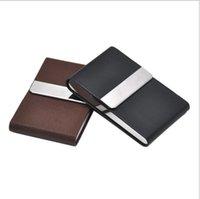 profilbox großhandel-New Leather Metal Box Klassische Mode Low Profile