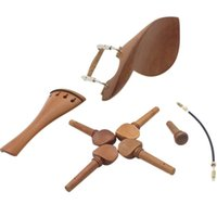 Wholesale tune violin online - 4 Violin Chin Rest Chinrest Jujube Wood with Tuning Peg Tailpiece Tailgut Endpin Violin Accessory Kit