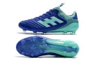 nuevos zapatos del fútbol de la llegada al por mayor-Botines de fútbol para hombre blancos Copa Mundial FG zapatos de fútbol copa mundial de fútbol botas de cuero Tacos de futbol recién llegado