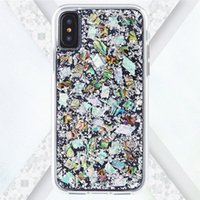 Wholesale mother pearl ship resale online - For iPhone X Case Hybrid Armor Real Mother of Pearl Slim Protective Design Apple iPhone X s Plus Samsung s9 plus case
