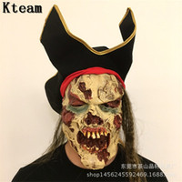 scary hats NZ - Horror!!! New Halloween Zombie Mask Ghost Scary Mask Props Grudge Ghost Hedging Zombie Realistic Bloody Masks With Hat