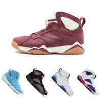 Wholesale fabric charcoal - 7 men basketball shoes Pantone University blue Tinker Alternate Olympic Hares Bordeaux Cigar Cardinal raptro Charcoal GMP sports Sneakers