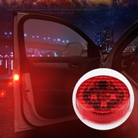 Wholesale flashing traffic lights for sale - Group buy Flashing LED Warning Lamp Auto Strobe Traffic Light Red Car Door Lights Anti Collision Magnetic Control Car styling Q0368