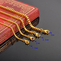 Wholesale Stylish Jewelry For Women - Wholesale- FUNIQUE Stylish Stainless Steel Box Chain Necklace For Men Women DIY Fine Jewelry Silver gold color Chain Necklace 50cm