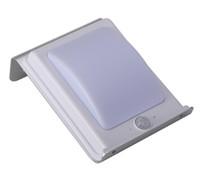 düz ışık led paneller toptan satış-LED sokak lambası açık güneş 16LED alüminyum düz panel güneş Indüksiyon ev aydınlatma avlu ışık